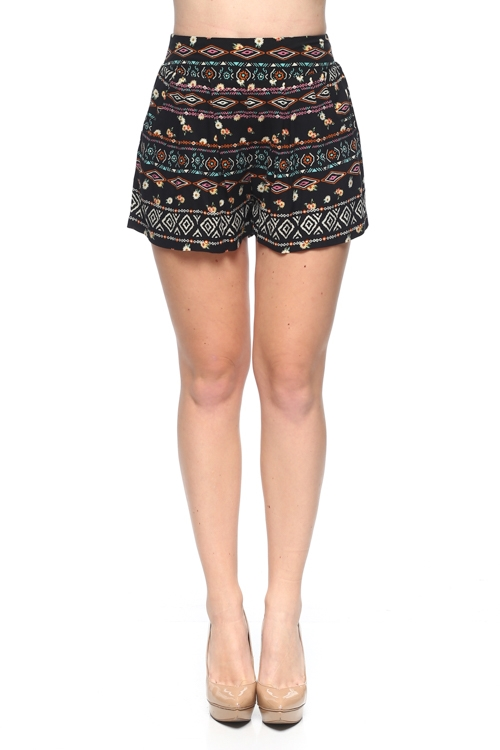 CHALLIS TRIBAL SHORTS - orangeshine.com