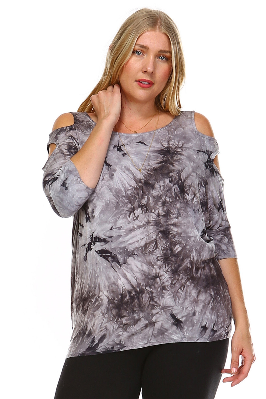 2-HOLE COLD SHOULDER TUNIC - orangeshine.com
