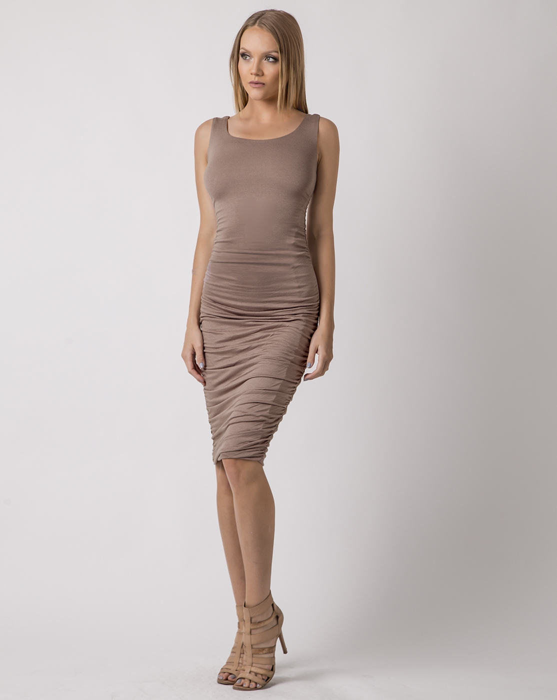 INSTANT UPGRADE ME MIDI DRESS - orangeshine.com