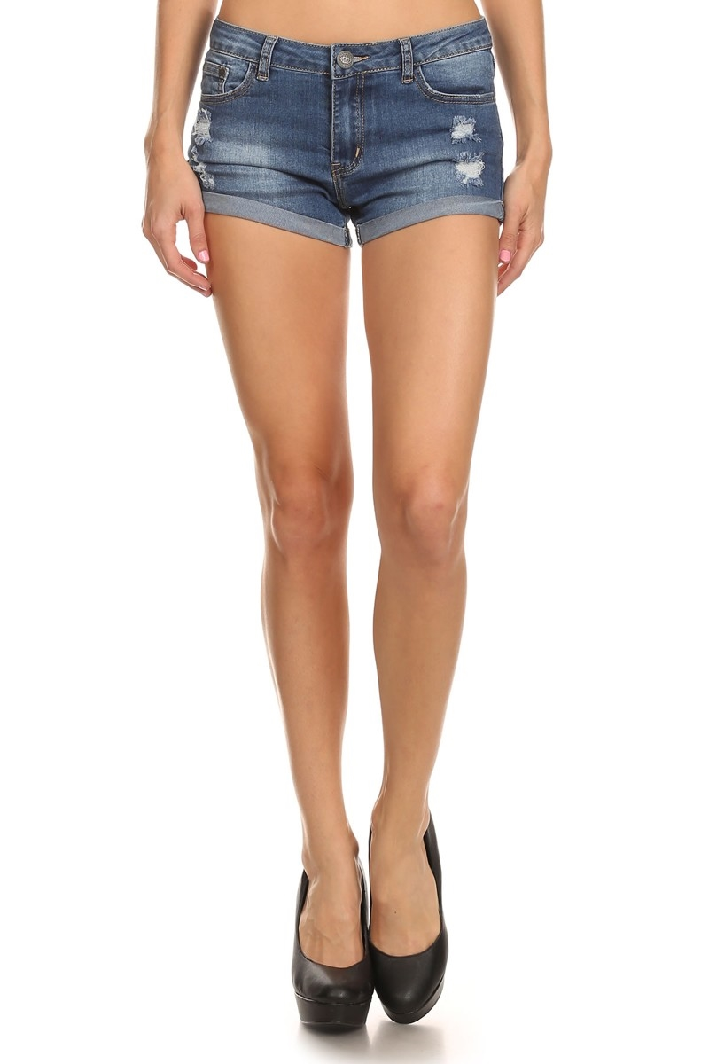 DISTRESS DENIM SHORTS RRS-2228 - orangeshine.com