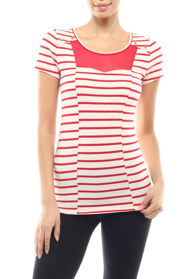 Leaking Stripe T Shirts - orangeshine.com