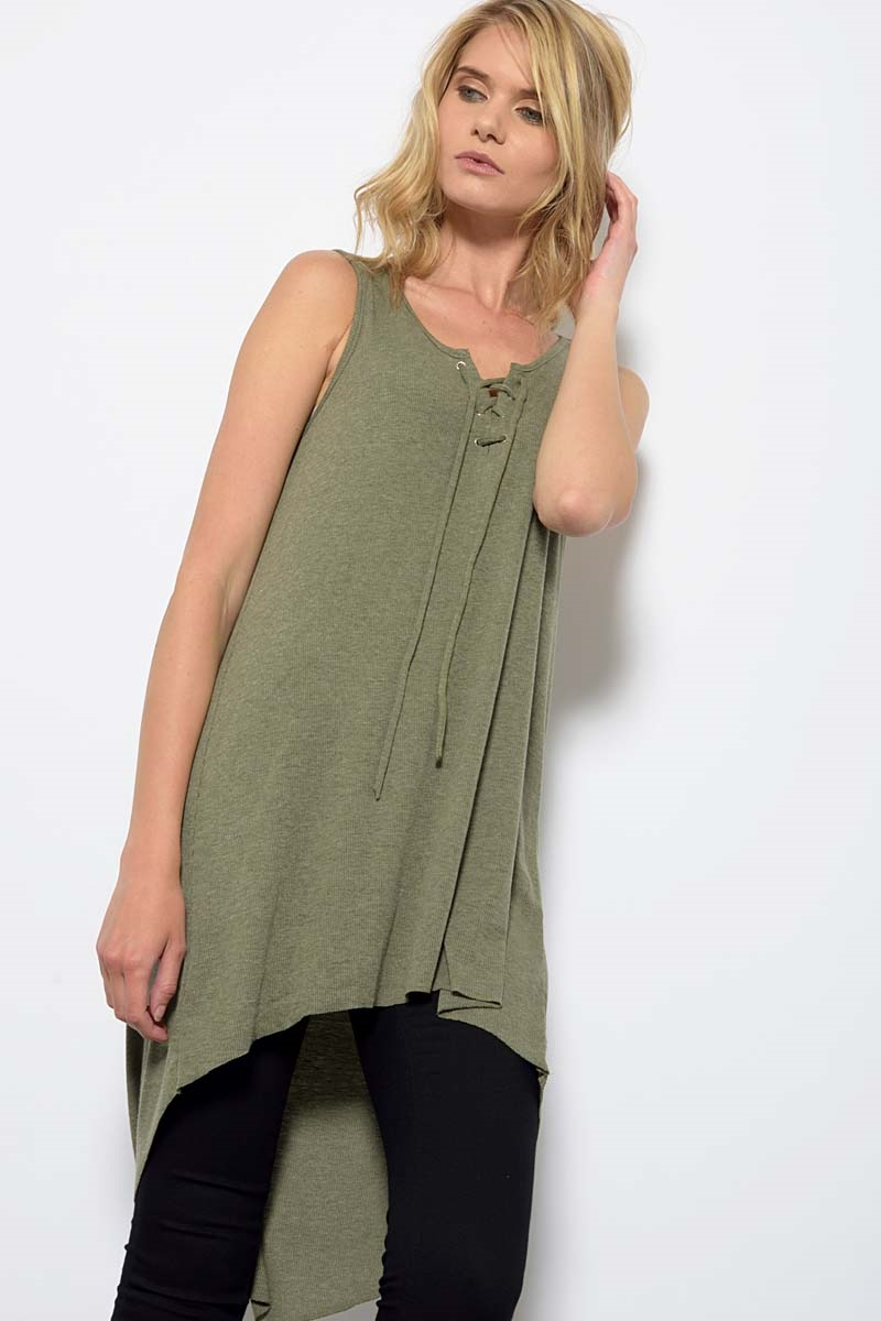 SLEEVELESS KNIT - orangeshine.com
