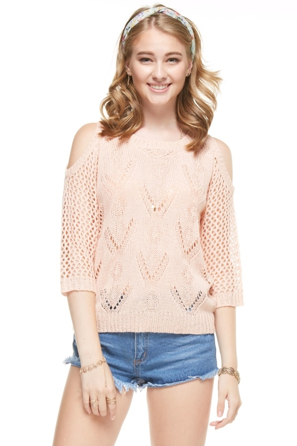 Peek-a-Boo Shoulder Top - orangeshine.com