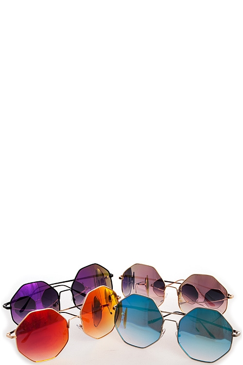 Assorted Hexagonal Sunglasses - orangeshine.com