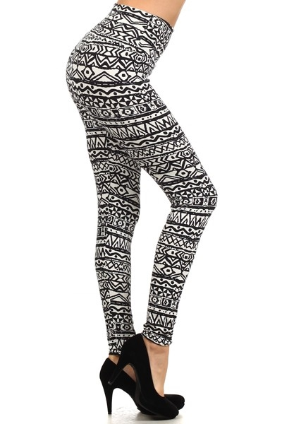 Black White tribal Leggings - orangeshine.com
