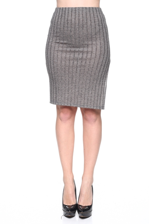 RIB SWEATER SKIRT - orangeshine.com