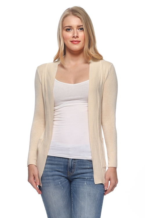OPEN SWEATER CARDIGAN - orangeshine.com