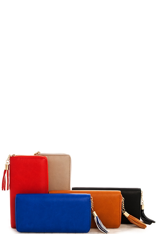 Tassel Chic Long Wallet Bulk - orangeshine.com