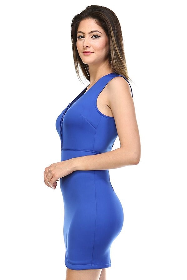 Spellbind Dress - Royal Blue - orangeshine.com