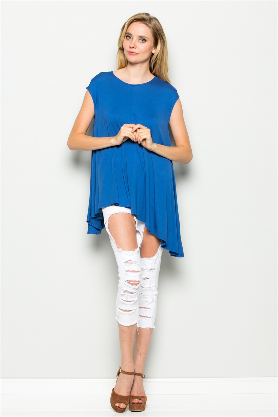 ASYMMETRICAL TUNIC TOP - orangeshine.com