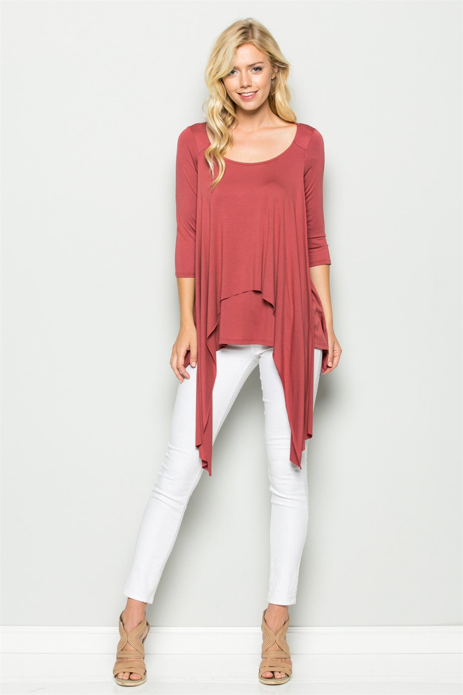 DOUBLED FRONT LOOSE FIT TOP - orangeshine.com