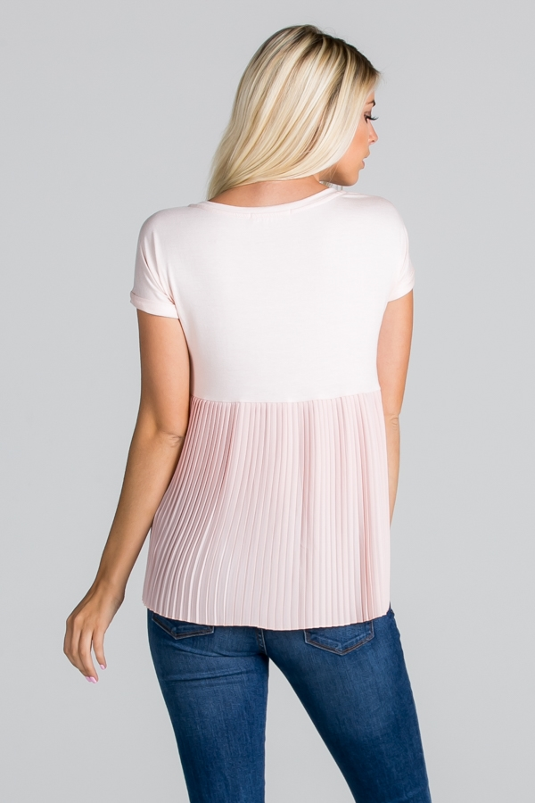 Solid Pleated Contrast Back - orangeshine.com