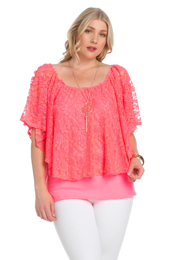 LACE OFF SHOULDER TOP - orangeshine.com