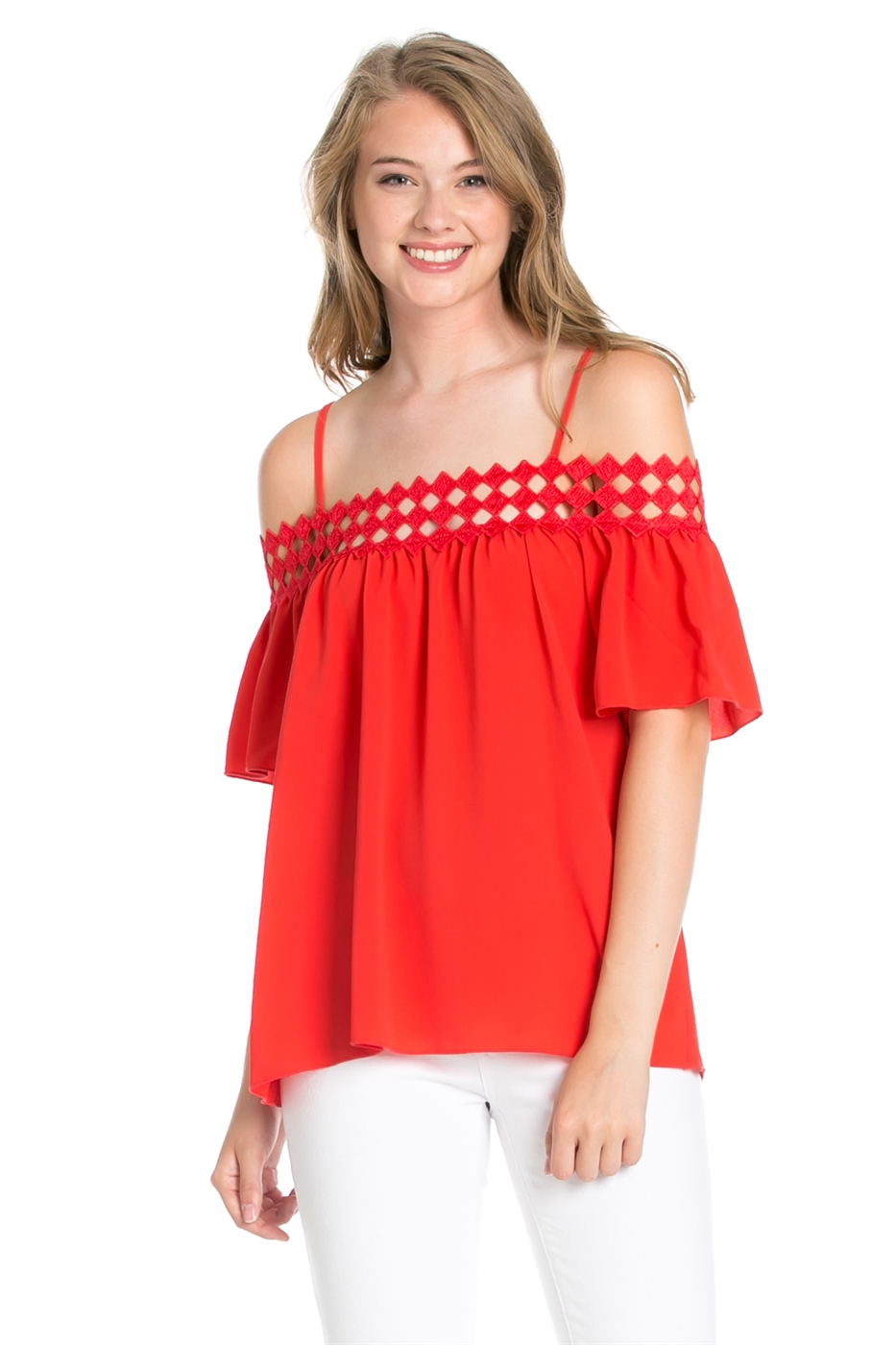 DIAMOND NECKLINE TOP - orangeshine.com