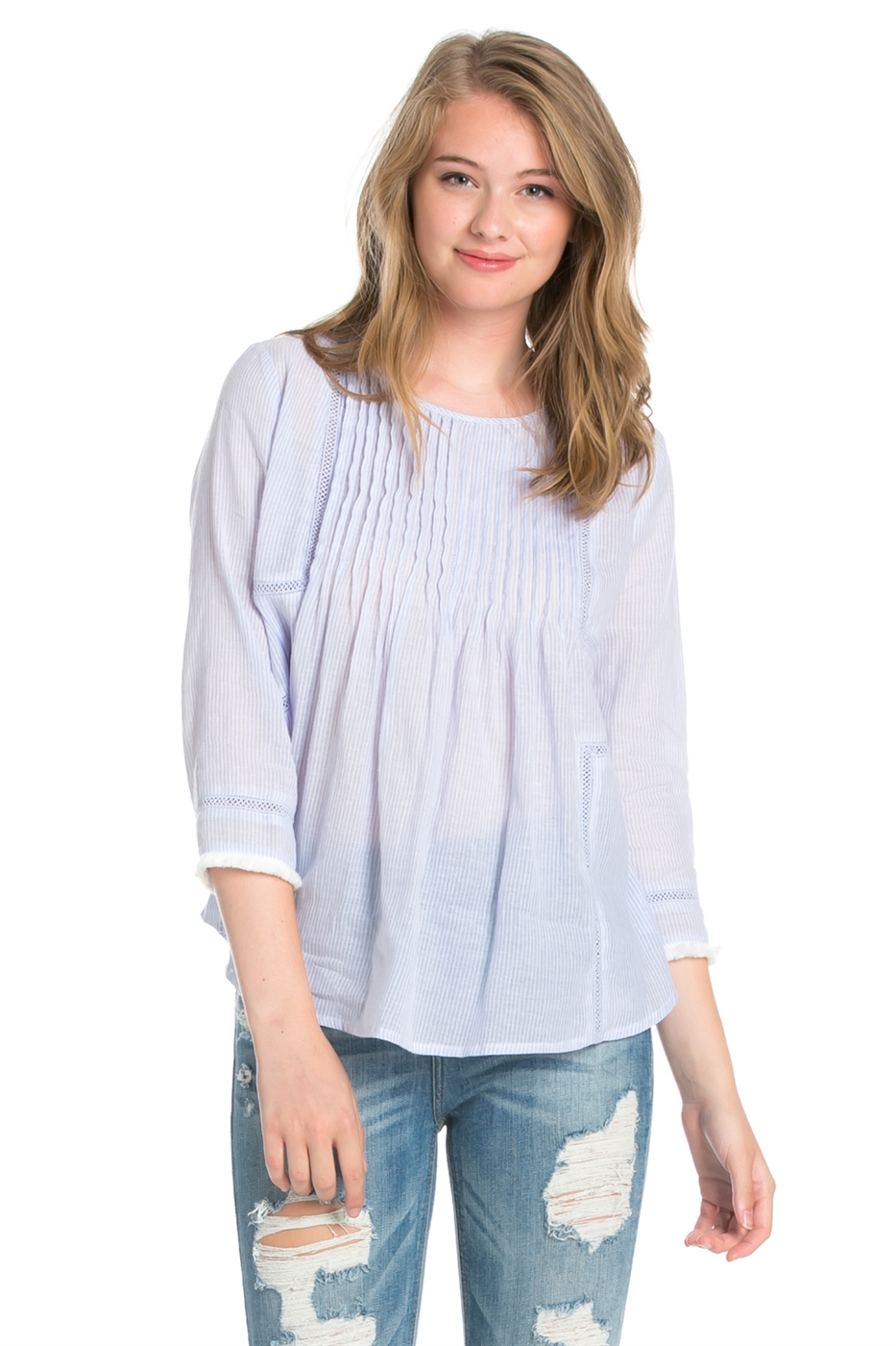 COTTON FRINGE LONGSLEEVE TOP - orangeshine.com