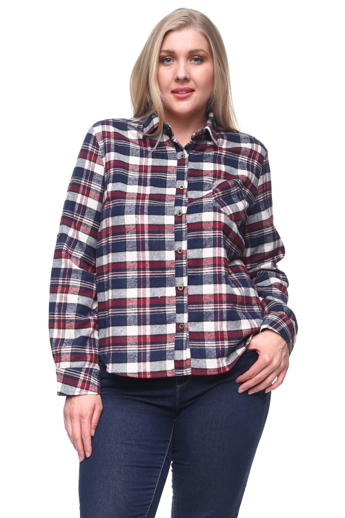 SOFT PLAID SHIRT - orangeshine.com
