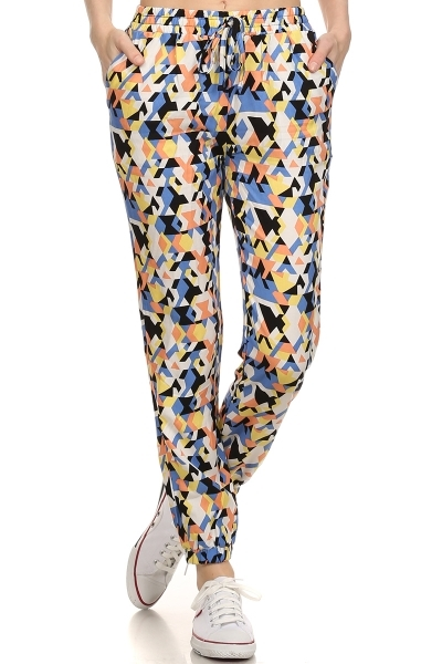 Womens Joggers Abstract Print - orangeshine.com