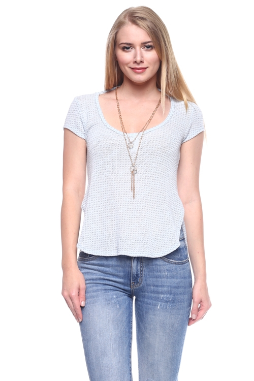 KNIT TOP WITH NECKLACE - orangeshine.com