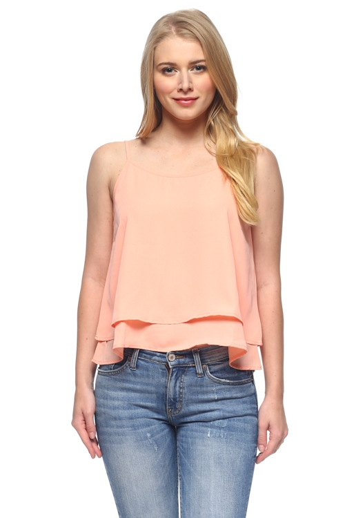 DOUBLE LAYER TANK TOP - orangeshine.com