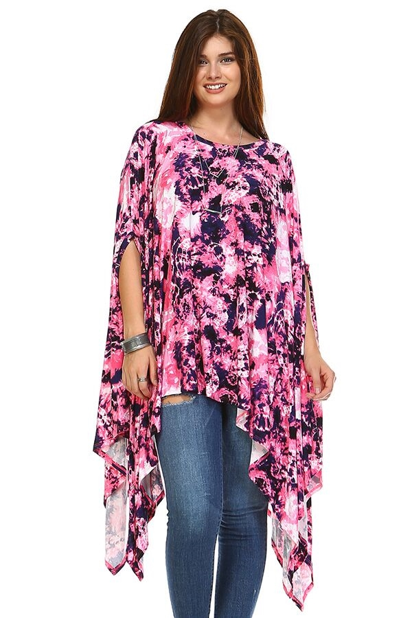 Umbrella Tunic - Pink Tie Dye - orangeshine.com