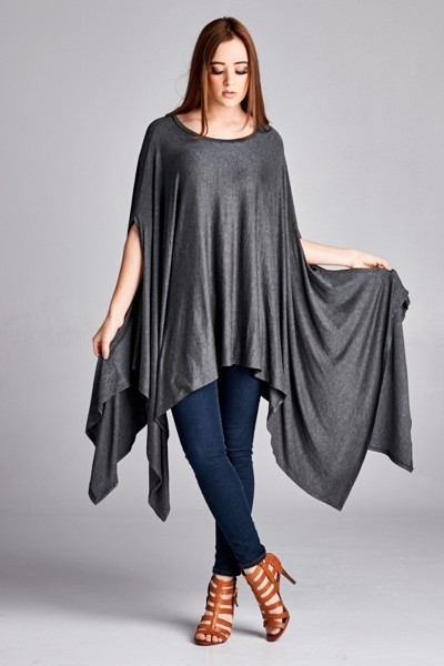 Umbrella Tunic - Charcoal - orangeshine.com