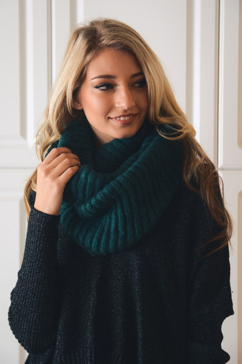Cozy Ribbed Knit Infinity - orangeshine.com