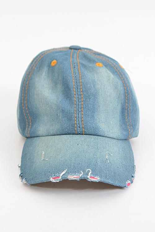 Plain Denim Sports Cap - orangeshine.com
