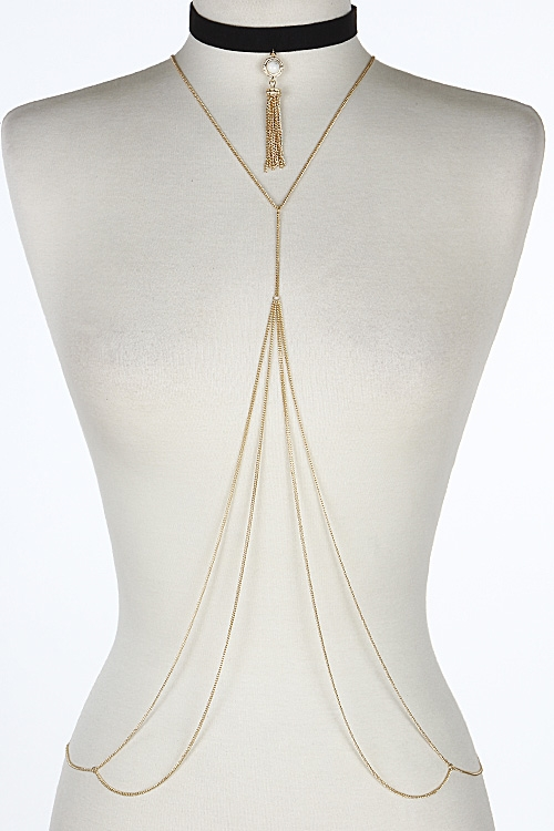 Simple Body Chain Choker - orangeshine.com