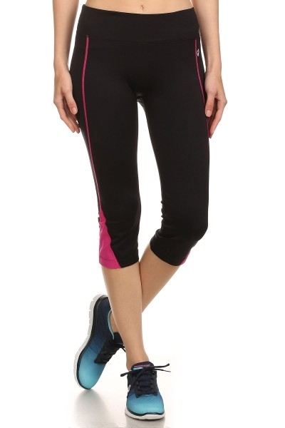 Black Capri leggings Yoga Nylo - orangeshine.com