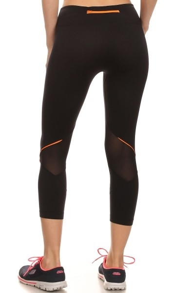Black Capri leggings Pocket  - orangeshine.com