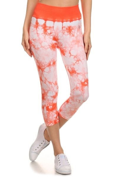 Orange Tie Dye Active Leggings - orangeshine.com