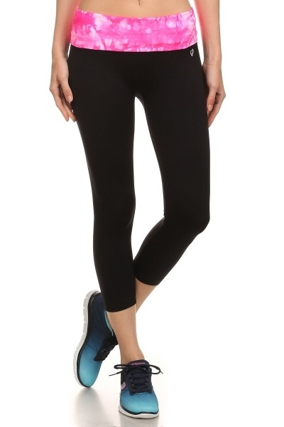 Solid Capri Yoga Leggings - orangeshine.com