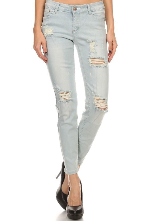 DISTRESS COTTON JEANS ACP-734 - orangeshine.com