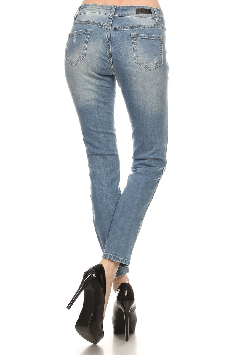 DISTRESS COTTON JEANS ACP-741 - orangeshine.com