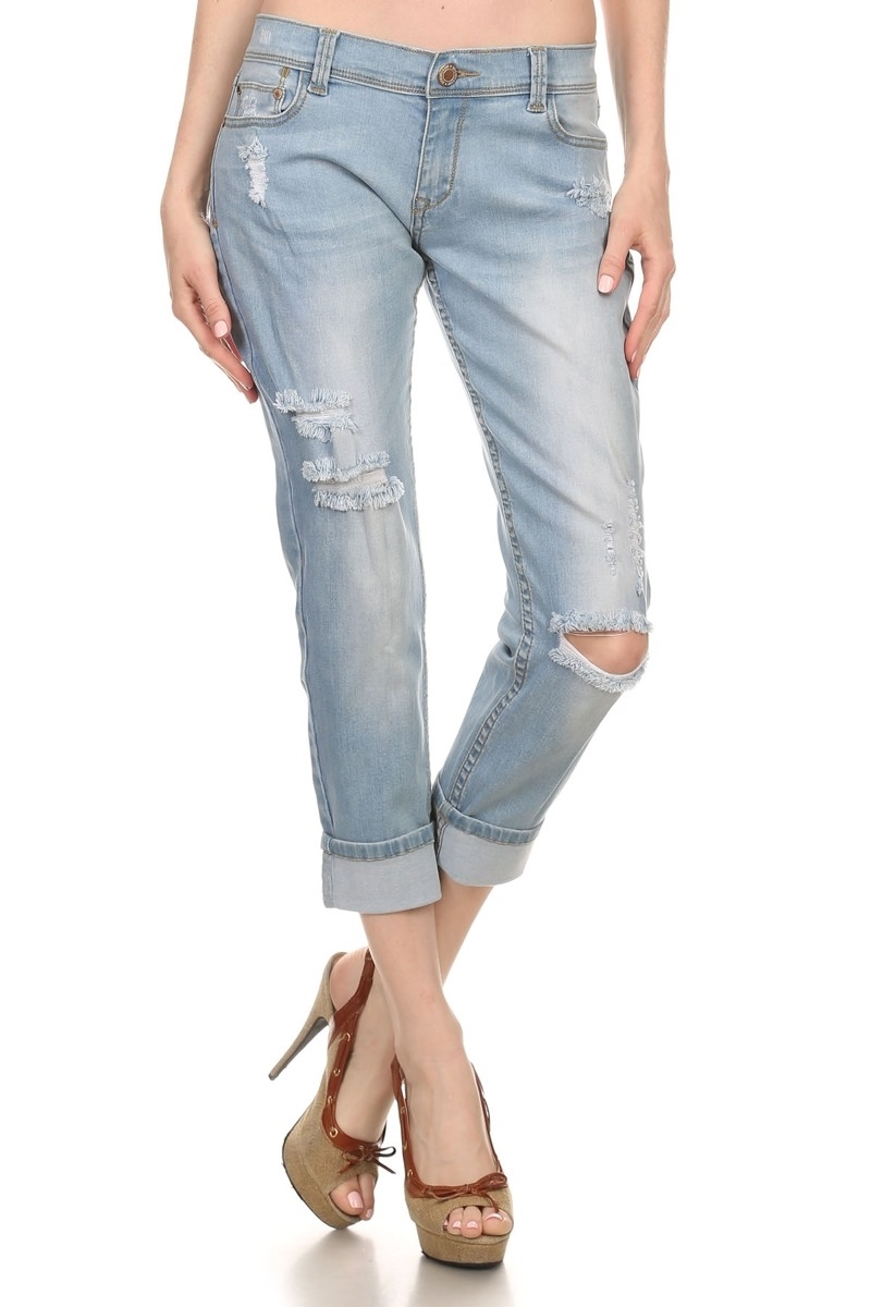 DISTRESS COTTON JEANS ACPB-711 - orangeshine.com