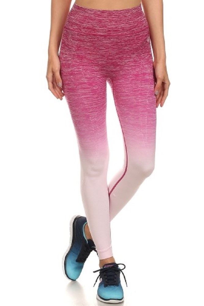 Ombre Tie Dye Leggings Fitness - orangeshine.com