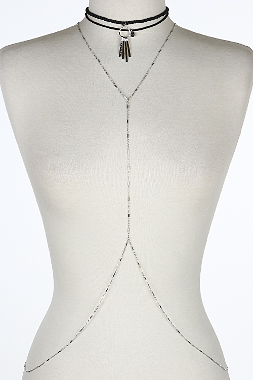 Body Chain Choker with Circles - orangeshine.com