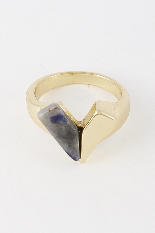 Unique V Shaped Ring - orangeshine.com