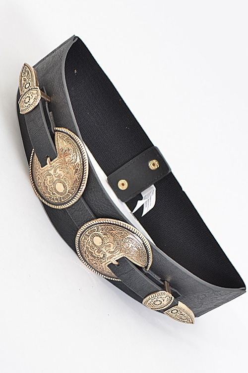 Thick Belt with Emblem - orangeshine.com