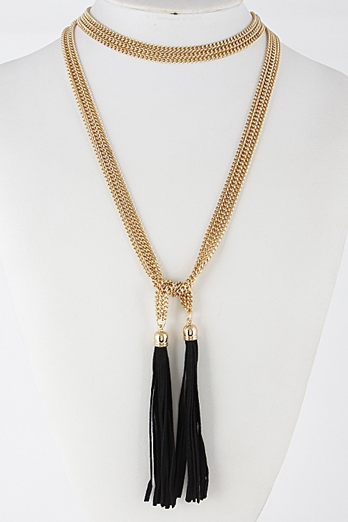 Wrap Around Long Necklace - orangeshine.com