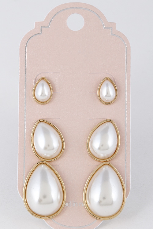 Tear Drop Pearl Earrings - orangeshine.com