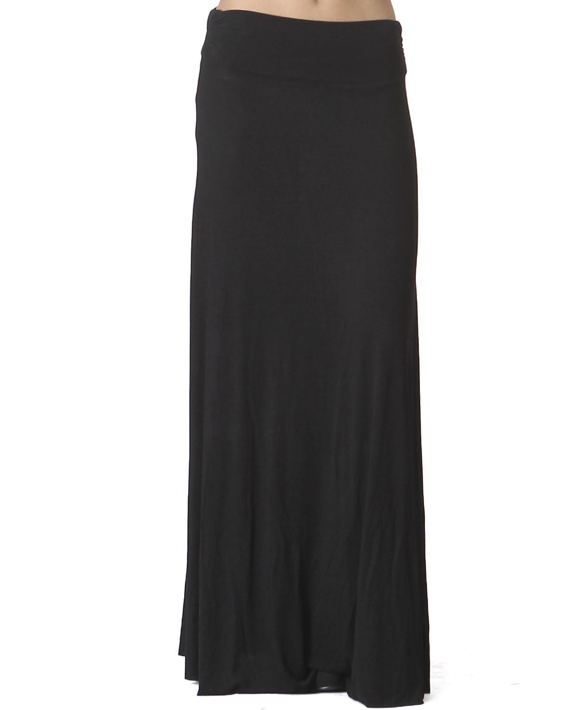 Women's Solid Knit Maxi Skirt - orangeshine.com