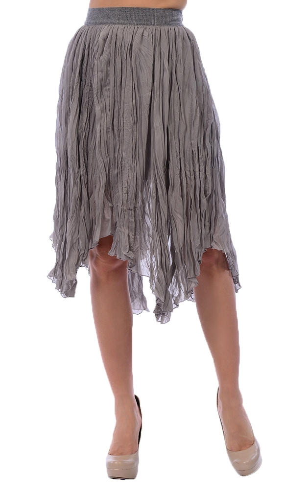 Women's Crinkle Skirt with Contrast  - orangeshine.com