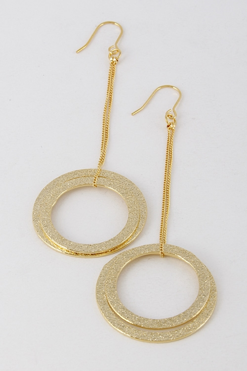 Shiny Drop Hoop Earrings - orangeshine.com