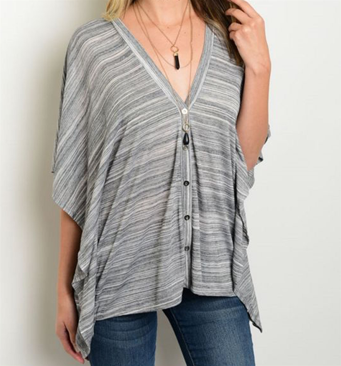 Grey Loose Tunic - orangeshine.com