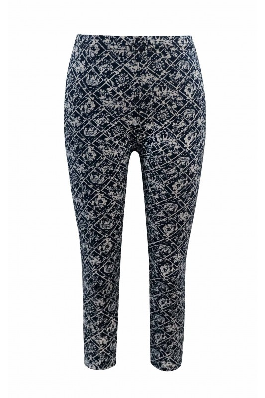 Big Kids Print Leggings Navy - orangeshine.com