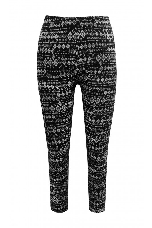 Big Kids Black leggings Tribal - orangeshine.com