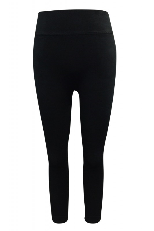Kids Black Ponte Leggings - orangeshine.com