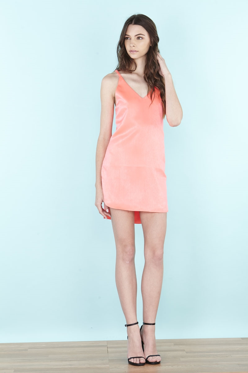 OPEN BACK MINI DRESS - orangeshine.com
