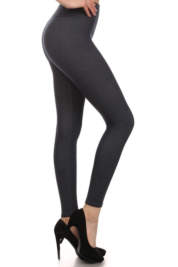 Solid Body Shaper Jeggings Nav - orangeshine.com